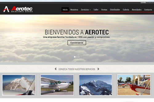 Aerotec Argentina - Sitio web