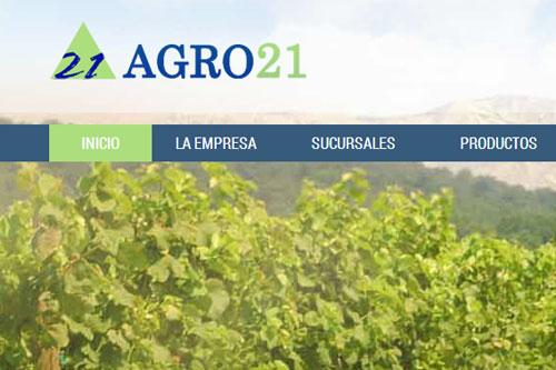 Agro 21 - Sitio web