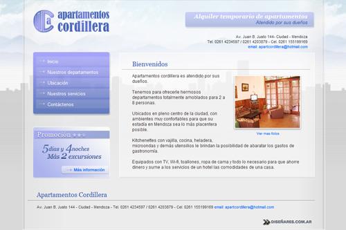 Apart Cordillera - Sitio web