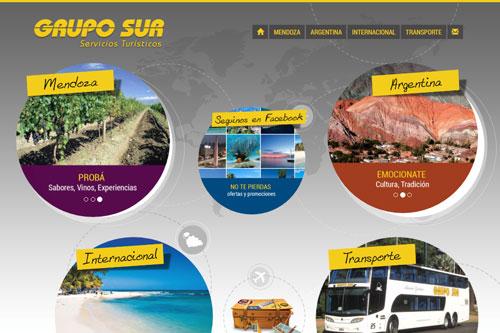 Grupo Sur - Sitio web