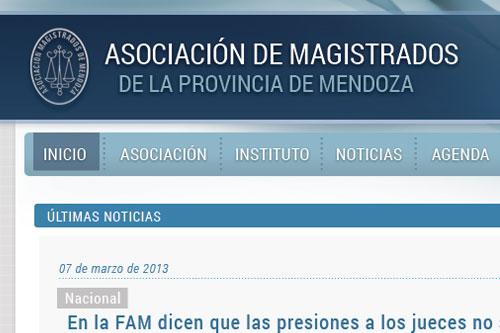 Magistrados Mendoza - Sitio web
