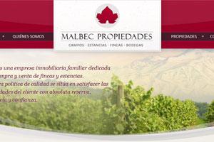 Malbec Propiedades - Sitio web