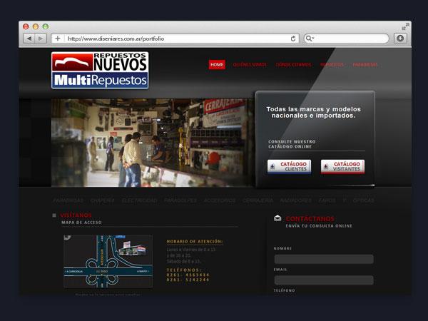 Multirepuestos - Sitio web