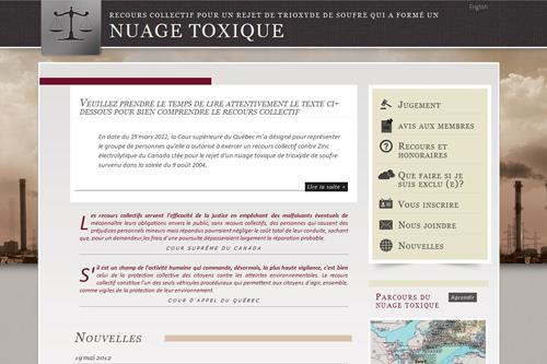 Nuage Toxique - Sitio web