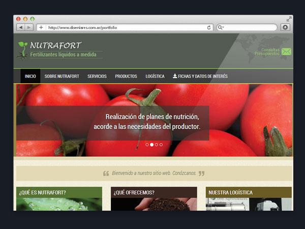 Fertilizante Nutrafort - Sitio web