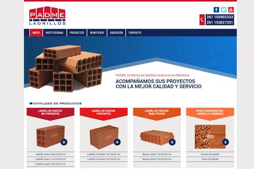Ladrillos Padme - Sitio web y diseño de marca