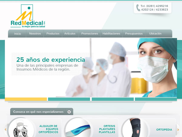 Red Medical - Sitio web