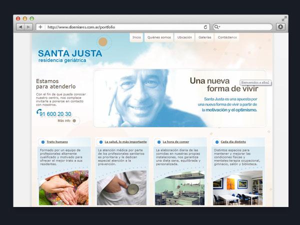 Residencia Santa Justa - Sitio web
