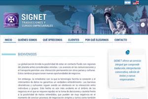 Signet Traducciones - Sitio web