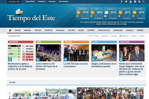 Tiempo del Este - Sitio web